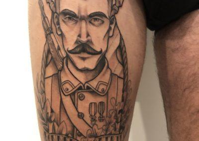Tatouage soldat fait par Kevin