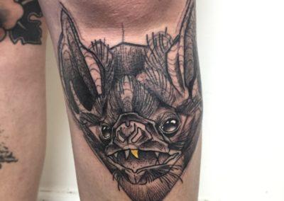 Tattoo Chauve-Souris Sketch fait par Sacha