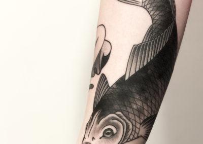 Tatouage Carpe Koi fait par Wan