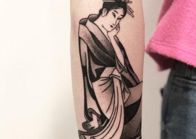 Tatouage Geisha fait par Wan