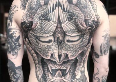 Tatouage Hannya fait par Wan