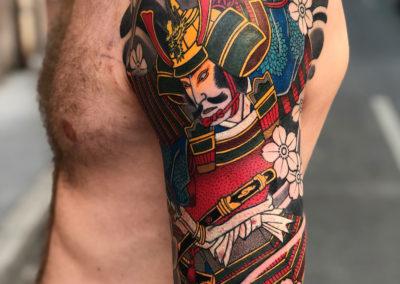 Tatouage Samourai fait par Wan
